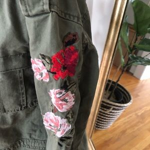 a new day Jackets & Coats - Utility jacket with floral embroidery boho